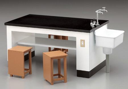 超激得SALE 1 12可動フィギュア用アクセサリー 理科室の机と椅子 プラモデル 再販 《11月予約》 ハセガワ 蔵