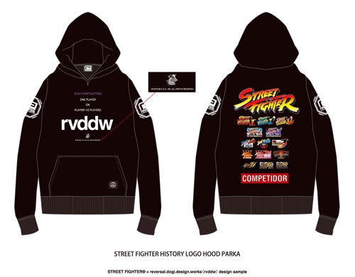 Street Fighter x reversal - STREET FIGHTER HISTORY LOGO Hooded Parka / L(Released)(ストリートファイター x reversal フードパーカー-L STREET FIGHTER HISTORY LOGO HOOD PARKA )