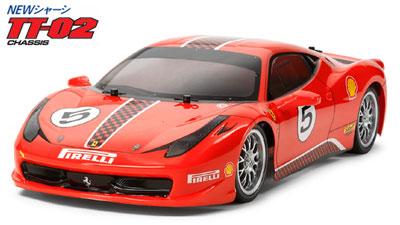 1/10電動RCカー フェラーリ 458 チャレンジ(TT-02シャーシ)[タミヤ]《取り寄せ※暫定》