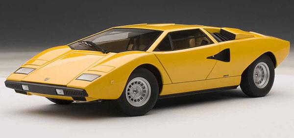 ダイキャスト・モデルカー(シグネチャーシリーズ) 1/18 ランボルギーニ カウンタック LP400 (イエロー)[オートアート]《取り寄せ※暫定》
