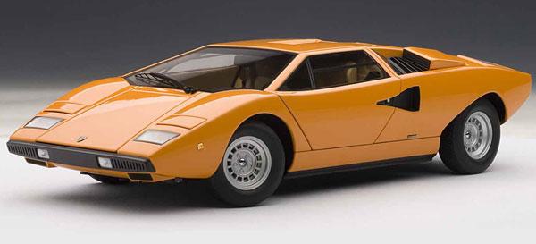 ダイキャスト・モデルカー(シグネチャーシリーズ) 1/18 ランボルギーニ カウンタック LP400 (オレンジ)[オートアート]《取り寄せ※暫定》
