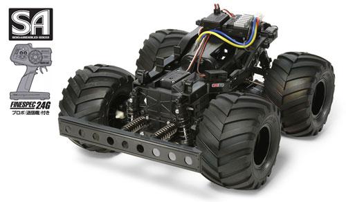 SA(セミアッセンブル) 電動RCカー 完成シャーシセット (WR-02シャーシ プロポ付)[タミヤ]《取り寄せ※暫定》