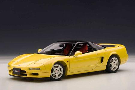 ダイキャスト・モデルカー(シグネチャーシリーズ) 1/18 ホンダ NSX タイプR 1992 (インディ・イエローパール)[オートアート]《発売済・在庫品》