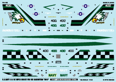 "A-372 Decal 1/144 US Navy F/A-18E VFA-195 Dambusters ""2013""(Back-order)(A-372 デカール 1/144 アメリカ海軍 F/A-18E VFA-195 ダムバスターズ「2013」(再販)[MYK DESIGN]《取り寄せ※暫定》)"