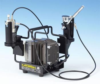 PS321 リニアコンプレッサーL5/エアーブラシ・レギュレーターセット(再販)[GSIクレオス]【送料無料】《在庫切れ》