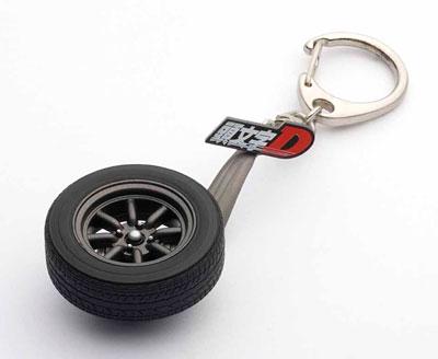 """Toyota Sprinter Trueno (AE86) New Movie """"Initial D Legend 1 -Kakusei-"""" Wheel Keychain(Back-order)(トヨタ スプリンター トレノ (AE86) 新劇場版 『頭文字D Legend1 -覚醒-』・ホイールキーチェーン)"""