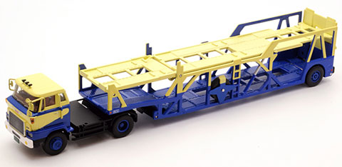 Tomica Limited Vintage LV-N89b Hino HE Car Transporter (Navy/Beige)(Back-order)(トミカリミテッド ヴィンテージ LV-N89b 日野HE カートランスポーター (紺/ベージュ))