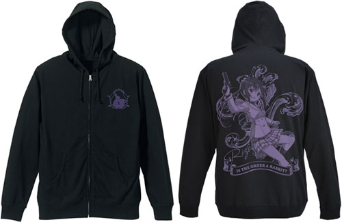 ご注文はうさぎですか? リゼ天竺パーカー/ブラック-L(Is the order a rabbit? - Rize Tenjiku Cotton Parka / BLACK - L(Released))