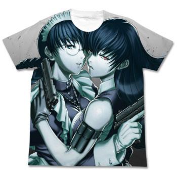 ブラックラグーン ロベルタ フルグラフィックTシャツ/ホワイト-L(再販)[コスパ]《03月予約》