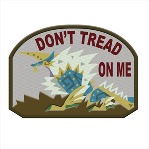 Monster Hunter - PATCH: DON'T TREAD ON ME (Zinogre)(Released)(モンスターハンター PATCH DON'T TREAD ON ME(ジンオウガ))
