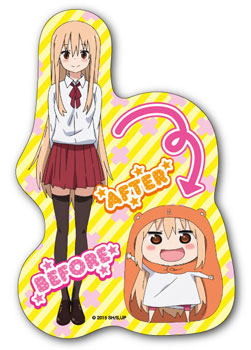 Himouto! Umaru-chan - Diecut Sticker (2) BEFORE AFTER(Released)(干物妹!うまるちゃん ダイカットステッカー (2)BEFORE AFTER)