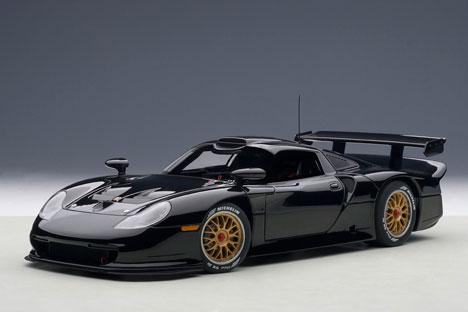 シグネチャーシリーズ 1/18 ポルシェ 911 GT1 1997年 プレーンボディ (ブラック)[オートアート]【送料無料】《取り寄せ※暫定》