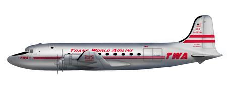 """1/200 ダグラス DC-4 """"トランス・ワールド航空""""[ホビーマスター]《取り寄せ※暫定》"""