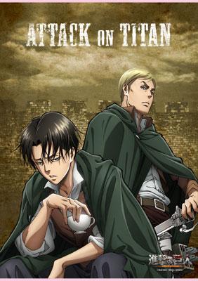B2 Wall Scroll - Attack on Titan: Levi & Erwin(Released)(B2タペストリー 進撃の巨人 リヴァイ&エルヴィン)