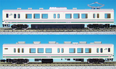 4660 Complete Model JR107 Series #100s Late Ver. Additional 2Car Train Set (w/o Power Unit)(Released)(4660 完成品モデル JR107系 100番代 後期型 増結2両編成セット(動力無し))