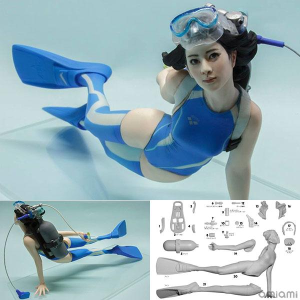 1/10 Underwater Kneesocks - Shimarisu-chan Garage Kit(Back-order)(1/10 水中ニーソ しまりすちゃん ガレージキット)