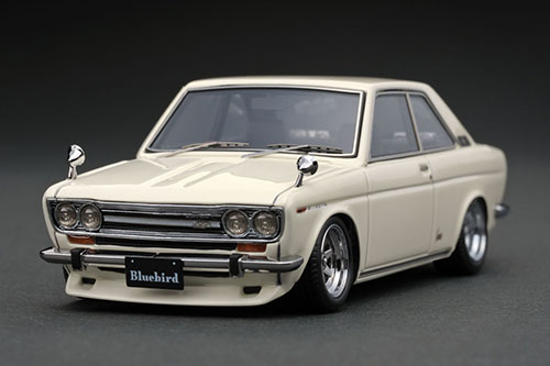 史上最も激安 1/43 White Datsun Datsun Bluebird Bluebird Coupe (KP510) White ※RonshanType-Wheel[イグニッションモデル]《在庫切れ》, 激安住設リフォームの新建:fde037f0 --- kventurepartners.sakura.ne.jp