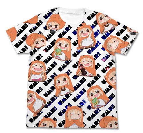 干物妹!うまるちゃん うまるフルグラフィックTシャツ/ホワイト-L(再販)[コスパ]《発売済・在庫品》