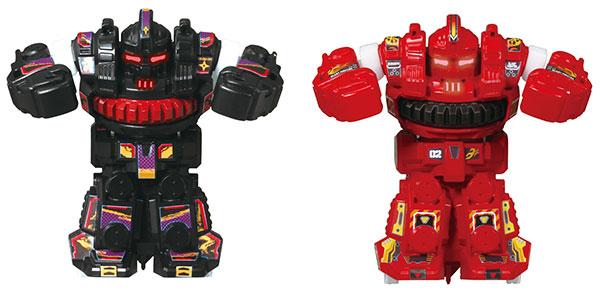Battroborg Senkai Battle Robot Blast Fighter 2Figures Taisen Set Black & Red(Released)(バトロボーグ 旋回バトルロボット ブラストファイター 2体対戦セット ブラック&レッド)