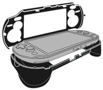 PS Vita (PCH-1000) L2/R2 Button Featured Grip Cover (Black)(Released)(PS Vita(PCH-1000)用 L2/R2ボタン搭載 グリップカバー(ブラック))