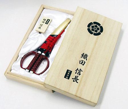 日本刀はさみ 織田信長モデル[ニッケン刃物]《取り寄せ※暫定》