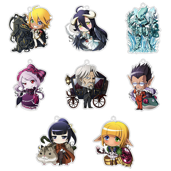Overlord - Great Tomb of Nazarick Floor Guardians Acrylic Keychain 8Pack BOX(Released)(オーバーロード ナザリック大墳墓・階層守護者アクリルキーホルダー 8個入りBOX)