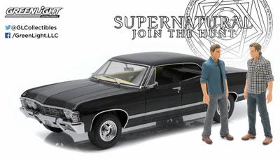 1/18 Supernatural (TV Series 2005-) 1967 Chevrolet Impala Sport Sedan with Sam and Dean Figures(再販)[グリーンライト]《05月仮予約》