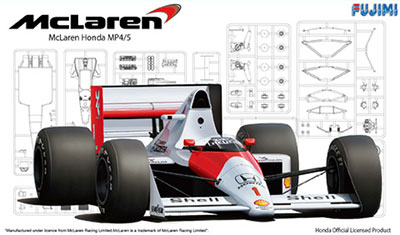1/20 Grand Prix Series No.1 McLaren MP4/5 1989 Plastic Model(Back-order)(1/20 グランプリシリーズ No.1 マクラーレン MP4/5 1989 プラモデル)