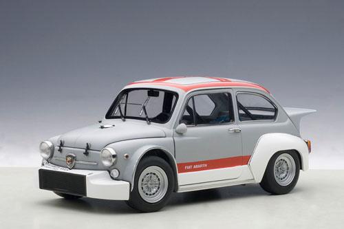 1/18 ダイキャスト・モデルカー フィアット アバルト 1000 TCR (グレー / レッド・ストライプ)[オートアート]《取り寄せ※暫定》