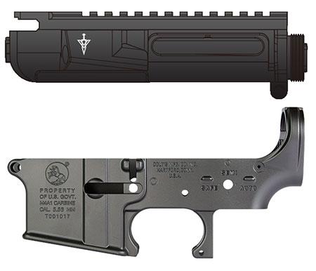 次世代電動ガン M4シリーズ用 MG アッパーフレーム&ロアフレームSET アッパーMUR-1タイプ+ロアCOLTタイプ[ライラクス]【送料無料】《取り寄せ※暫定》