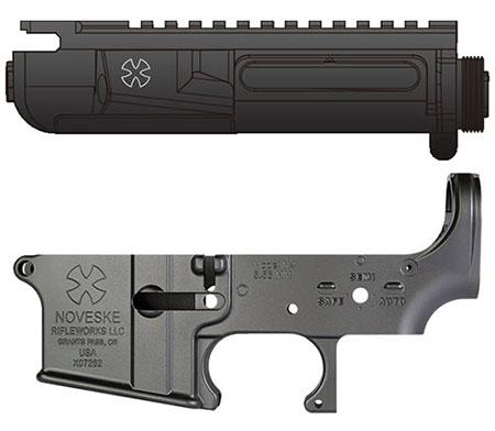 次世代電動ガン M4シリーズ用 MG アッパーフレーム&ロアフレームSET アッパーNVタイプ+ロアNOVESKEタイプ[ライラクス]【送料無料】《取り寄せ※暫定》