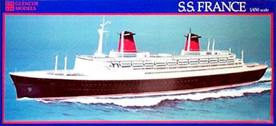 1/450 SS France Ocean Liner Plastic Model(Released)(1/450 大型客船 SSフランス プラモデル)