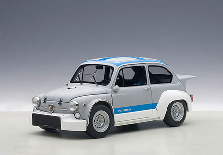 1/18 ダイキャスト・モデルカー フィアット アバルト 1000 TCR (グレー / ブルー・ストライプ)[オートアート]《取り寄せ※暫定》