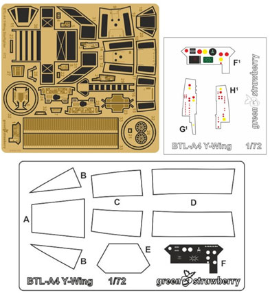 1/72 BTL A-4 Y-Wing Photo-etched Parts & Detail Set (For Bandai)(Back-order)(1/72 BTL A-4Yウイング用エッチング&ディテールセット (バンダイ用))