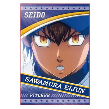 Ace of Diamond - Square Can Badge: Eijun Sawamura B(Released)(ダイヤのA スクエア缶バッジ 沢村栄純 B)
