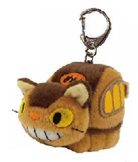 My Neighbor Totoro - Funwari Keychain 4. Cat Bus(Back-order)(となりのトトロ ふんわりキーホルダー 4.ネコバス)