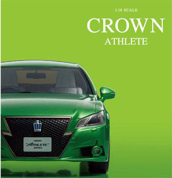 Kyosho Original 1//18 Toyota Crown Hybrid Athlete S Bright Green Resin KSR18001GR