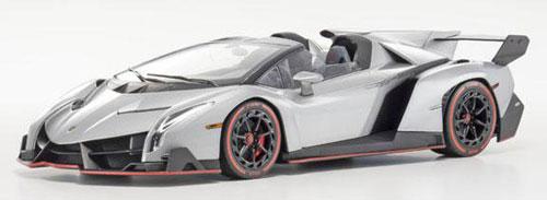 KYOSHOオリジナル OUSIA 1/18 Lamborghini Veneno Roadster(グレー/レッドライン)[京商]《取り寄せ※暫定》