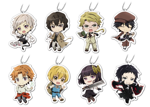 Bungo Stray Dogs - Acrylic Mascot 8Pack BOX(Released)(文豪ストレイドッグス アクリルマスコット 8個入BOX)