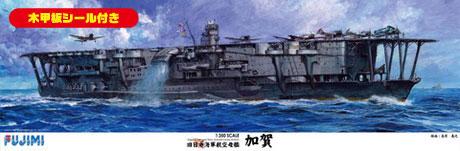 1/350 艦船シリーズSPOT 日本海軍航空母艦 加賀 木甲板シール付き(再販)[フジミ模型]《05月予約※暫定》