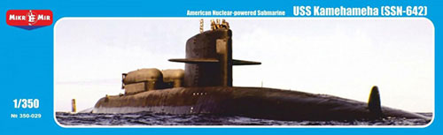 1/350 American SSBN-642 USS Kamehameha Nuclear-powered Submarine (MicroMir Brand MM350029) Plastic Model(Back-order)(1/350 米・SSBN-642カメハメハ戦略原潜(MicroMirブランドMM350029) プラモデル)