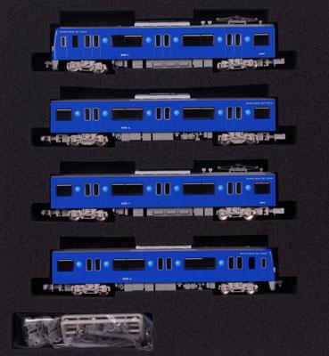 50038 完成品モデル 京急600形(更新車・KEIKYU BLUE SKY TRAIN) 基本4両編成セット(動力付き)[グリーンマックス]《取り寄せ※暫定》