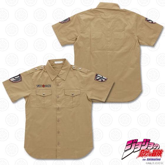 ジョジョの奇妙な冒険 スピードワゴン財団 ワークシャツ カーキ L(JoJo's Bizarre Adventure - Speedwagon Zaidan Work Shirt / KHAKI - L(Released))