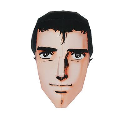 PEPATAMA Series - Paper Craft Mask: Uho' 3D Abe-san Narikiri Mask(Back-order)(PEPATAMAシリーズ ペーパークラフトマスク ウホッ、3D阿部さんなりきりマスク)