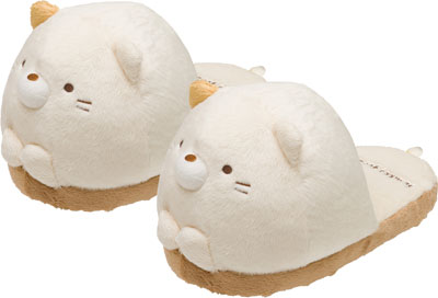 KY48701 Sumikko Gurashi - Plush Slippers: Neko(Released)(KY48701 すみっコぐらし ぬいぐるみスリッパ ねこ)