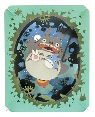 PAPER THEATER - My Neighbor Totoro PT-048 Tsuki Hikaru Oozora(Released)(ペーパーシアター となりのトトロ PT-048 月光る大空)
