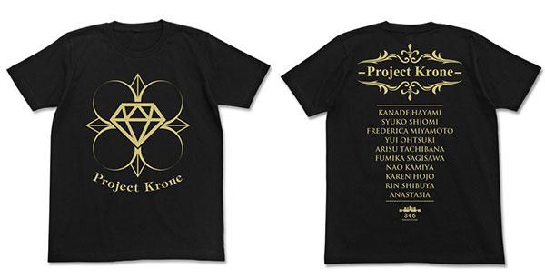 THE IDOLM@STER Cinderella Girls (Anime) - Project:Krone T-shirt / Black - XL(Released)(アイドルマスター シンデレラガールズ(アニメ) Project:Krone Tシャツ/ブラック-XL)