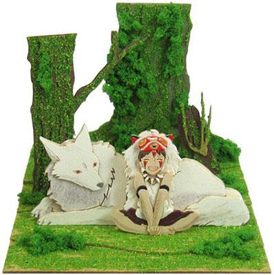 Miniatuart Kit Studio Ghibli mini - Princess Mononoke: San and Mountain Wolf(Released)(みにちゅあーとキット スタジオジブリmini もののけ姫 サンと山犬)