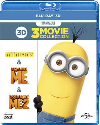 3DBD Despicable Me/Despicable Me 2/Minions Best Value 3D Set Limited Pressing Special Price(Back-order)(3DBD 怪盗グルー/危機一発/ミニオンズ ベストバリュー3Dセット 期間限定スペシャルプライス (Blu-ray Disc))