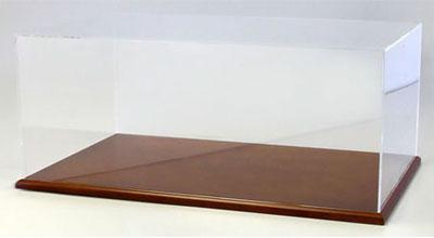 京商オリジナル アクリルケース&木製ディスプレイベースセット (大) ブラウン[京商]《取り寄せ※暫定》